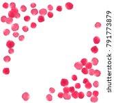 rose petals border invitation... | Shutterstock .eps vector #791773879