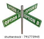 options a b c d choices 4 way... | Shutterstock . vector #791773945