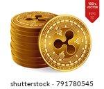 ripple. 3d isometric physical... | Shutterstock .eps vector #791780545