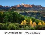 wilson peak in the colorado... | Shutterstock . vector #791782639