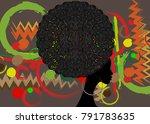 portrait african women   dark...   Shutterstock .eps vector #791783635
