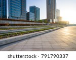 modern buildings in shanghai... | Shutterstock . vector #791790337