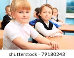 children at school during the... | Shutterstock . vector #79180243