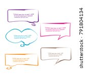set of bubble speech quote box... | Shutterstock .eps vector #791804134