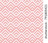 pattern stripe seamless pink... | Shutterstock .eps vector #791805421
