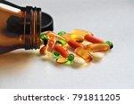 vitamin c  vitamin e  vitamin... | Shutterstock . vector #791811205