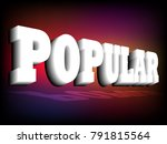 banner most popular. popular... | Shutterstock .eps vector #791815564