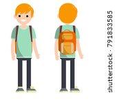 cartoon flat illustration  ... | Shutterstock .eps vector #791833585