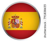 flag of spain  round icon  | Shutterstock .eps vector #791838655