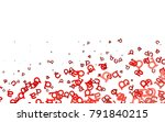 light red vector layout with...   Shutterstock .eps vector #791840215
