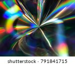 holographic wrinkled abstract... | Shutterstock . vector #791841715