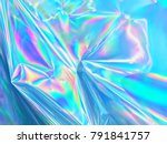 holographic iridescent surface... | Shutterstock . vector #791841757
