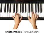 piano keyboard with hands on... | Shutterstock . vector #79184254