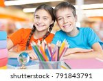 child in classroom | Shutterstock . vector #791843791