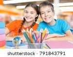 child in classroom   Shutterstock . vector #791843791