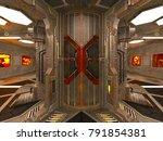 3d cg rendering of the space... | Shutterstock . vector #791854381