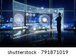 smart financial analytics...   Shutterstock . vector #791871019
