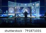 smart financial analytics... | Shutterstock . vector #791871031