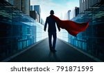 ambitions concept with hero...   Shutterstock . vector #791871595