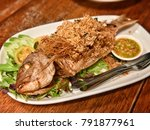 deep fried fish  thailand food  ...   Shutterstock . vector #791877961