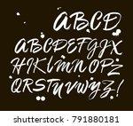 vector acrylic brush style hand ... | Shutterstock .eps vector #791880181