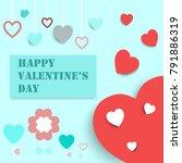 valentines card  vector... | Shutterstock .eps vector #791886319