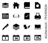 origami style icon set   data... | Shutterstock .eps vector #791904034