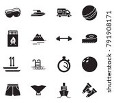 solid black vector icon set  ... | Shutterstock .eps vector #791908171
