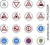 line vector icon set   disabled ... | Shutterstock .eps vector #791912209