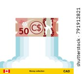 canadian dollar rising as a... | Shutterstock .eps vector #791912821