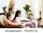 image of friendly family... | Shutterstock . vector #79191712