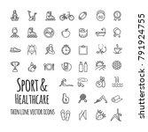 sports  sports equipment ... | Shutterstock .eps vector #791924755