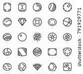 fine gems icons | Shutterstock .eps vector #791929771