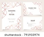 luxury wedding invitation set... | Shutterstock .eps vector #791933974