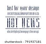 elegant narrow serif font