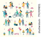 vector valentine illustration... | Shutterstock .eps vector #791939851
