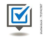 speech bubble check mark icon... | Shutterstock .eps vector #791942587