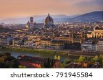 panoramic view of florence city ... | Shutterstock . vector #791945584