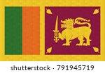 sri lanka flag. vector image of ...   Shutterstock .eps vector #791945719