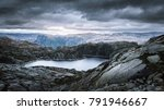 dramatic view from the top of a ... | Shutterstock . vector #791946667