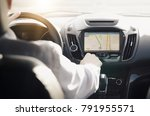 gps navigation system. person... | Shutterstock . vector #791955571