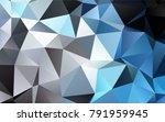 dark black vector low poly... | Shutterstock .eps vector #791959945