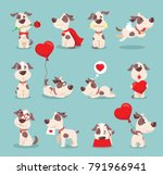 vector illustration set of cute ...