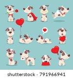 vector illustration set of cute ... | Shutterstock .eps vector #791966941