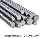 reinforcements steel bars stack.... | Shutterstock . vector #791968294