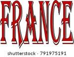 france text sign illustration...   Shutterstock .eps vector #791975191