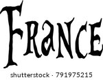 france text sign illustration... | Shutterstock .eps vector #791975215