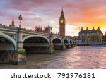 big ben clock tower  city of... | Shutterstock . vector #791976181