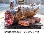 asf. african swine fever. in... | Shutterstock . vector #791976745
