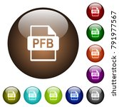 pfb file format white icons on... | Shutterstock .eps vector #791977567